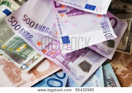 Euros, Good Background For Business Concept
