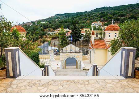 Greek Orthodox monastery. Crete. Spili.