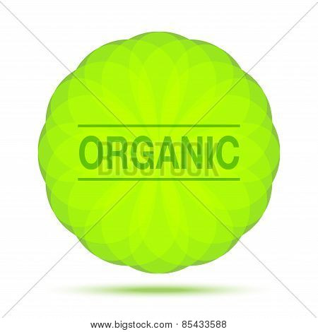 Organic Natural Circular Green Logo Emblem Design Element, cosmetics, soap, shampoo, perfume, label