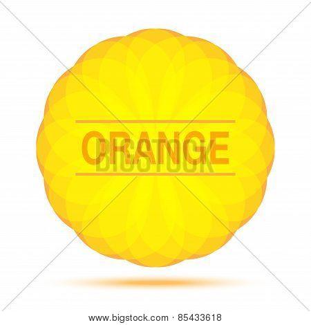 Sunny Circular Orange Logo Emblem Design Element, cosmetics, soap, shampoo, perfume, label backgroun