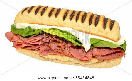 Pastrami Panini Sandwich