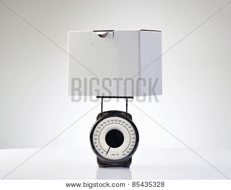 Weighing A Box For Ship