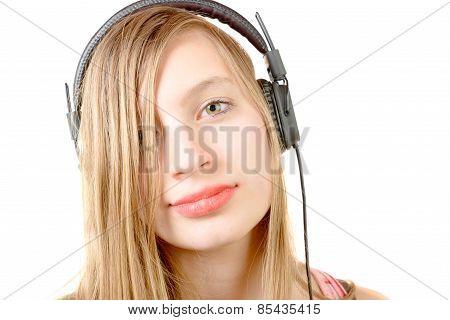 Portrait Of Teenage Girl With Headphone