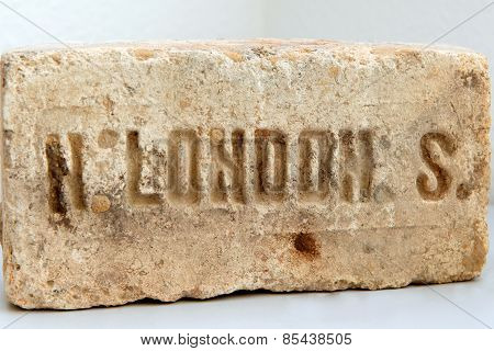 Old Brick Londonancient Stone From Londonthe Inscription On The Subject Of London