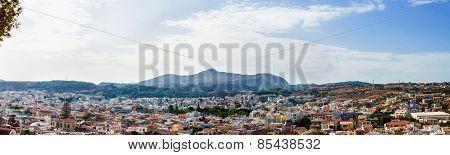 Panorama of the city. Greece. Crete. Rethymnon.
