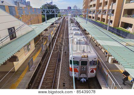 JR Kobe Line in Osaka Japan
