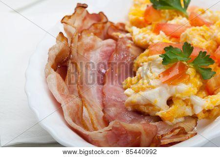 Heavy breakfast.