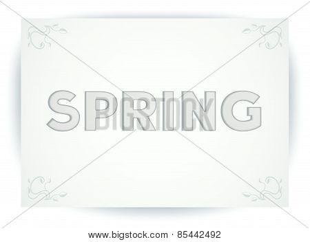 Spring card design