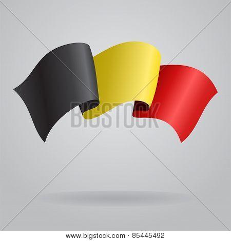 Belgian waving Flag. Vector illustration