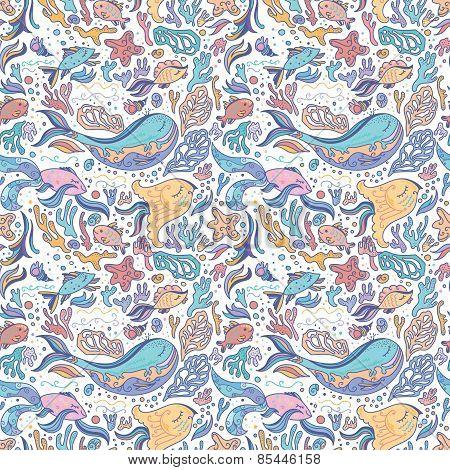 Sea sketch pattern