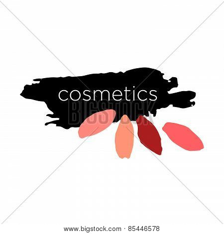 Abstract Vector Icon For Cosmetics And Makeup
