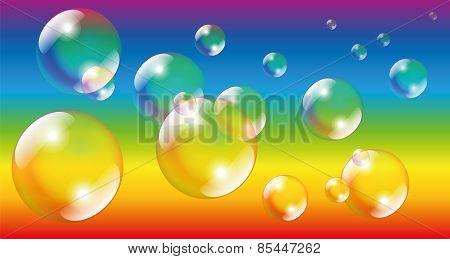 Soap Bubbles Rainbow Colors