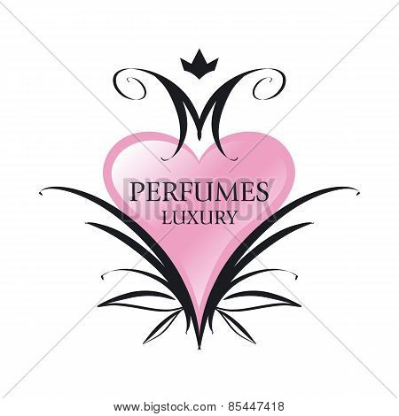 Vector Icon Pink Heart For Perfumes