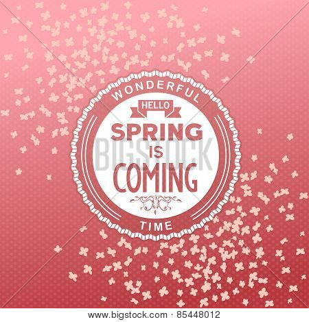 Hello, spring is coming