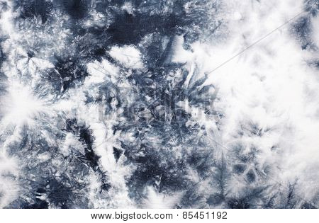 Abstract tie dyed fabric background