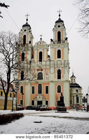 Church Of St. Catherine At Winter Time