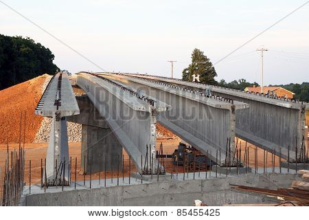 Highway bridge construction