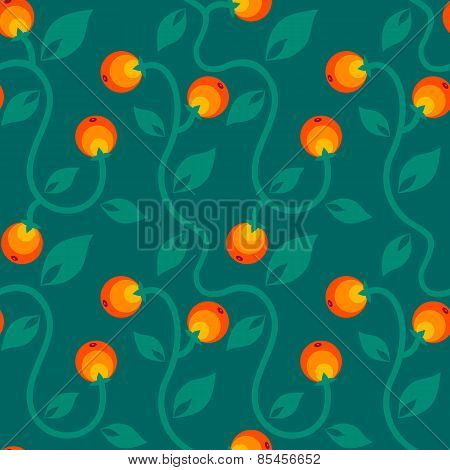 floral pattern with berry