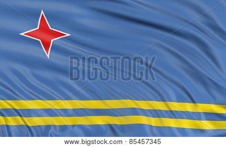 3D Aruba flag