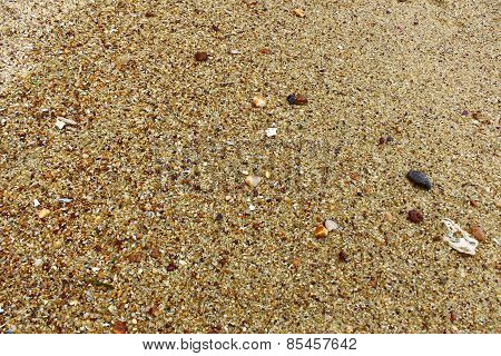 Coarse sand on Mirissa beach, Sri Lanka