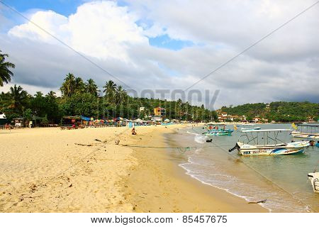 The Unawatuna Beach, Sri Lanka