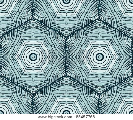 Unusual abstract hand-drawn pattern. Vector seamless background.