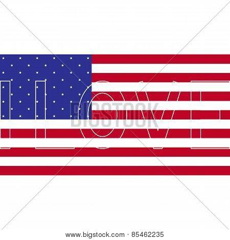 I Love American Flag