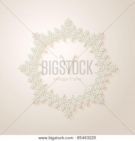 Geometric frame in trendy mono line style.