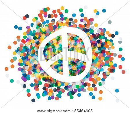 Peace sign. Beautiful symbol of peace.