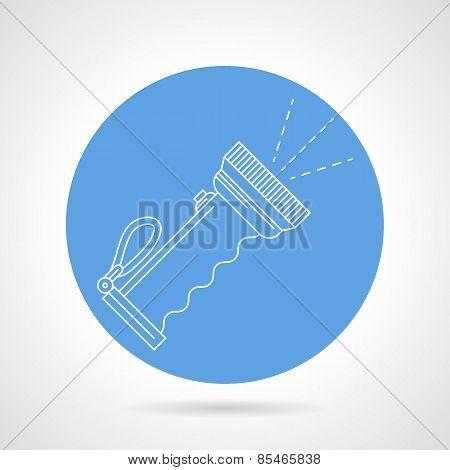Diver lantern blue vector icon