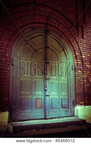 Old Church Entrance Door