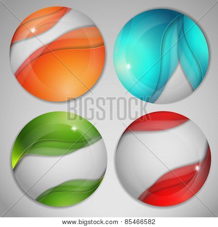 vector bright spheres set