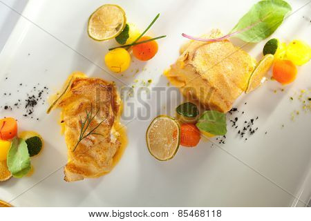 Salmon and Halibut Fillet with Citrus Mix