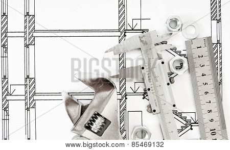 Drawings for building and metal working tools.