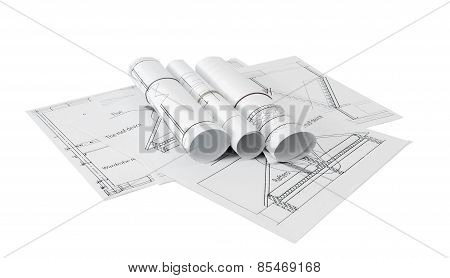 Repair work. Drawings for building on white a background.
