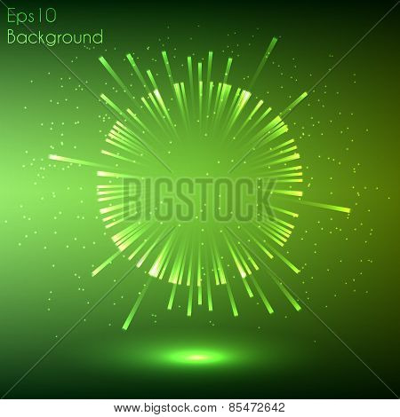 Green glowing explosion