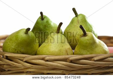 Pears . Still-life on a white background