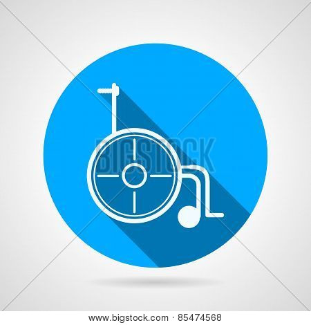 Round vector icon for wheelchair