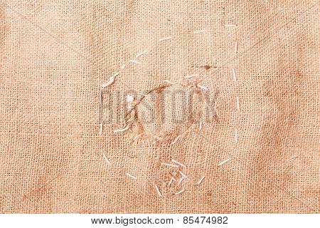 Background Of Burlap Hessian Sacking