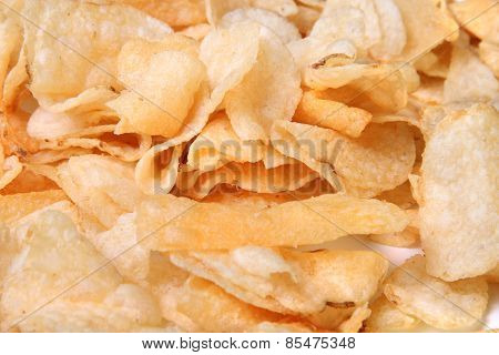 Closeup Of Kettle Chips