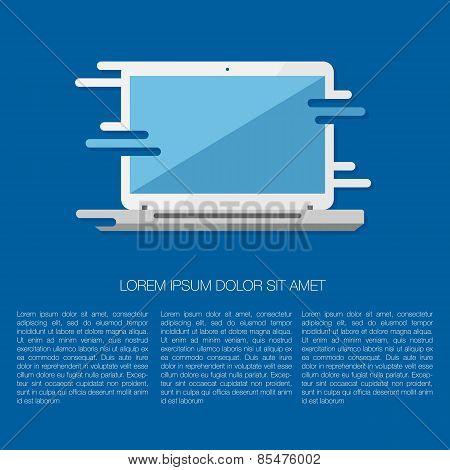 Vector Illustration Of Laptop