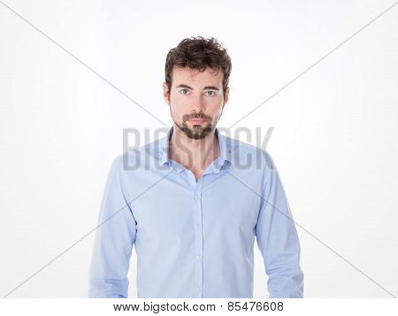 Young Man In Casual Clothes Posing