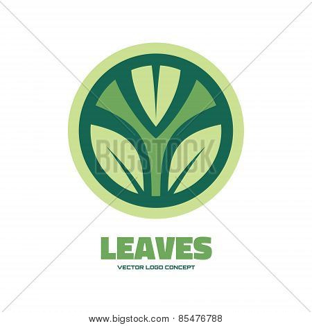 Leaves - vector logo concept illustration. Leafs logo. Nature logo. Vector logo template.