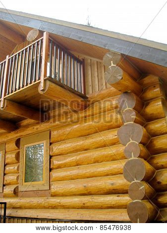 New construction of a log cabin
