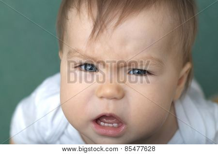Baby Crying Portrait