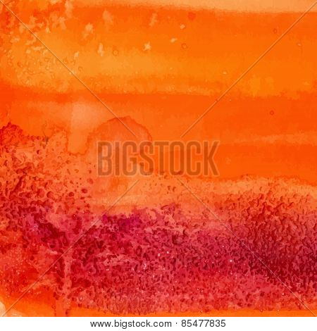 Orange watercolor texture