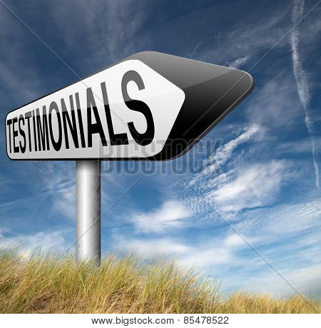customer feedback testimonials or leave a comment