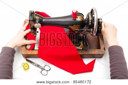 Using An Old Sewing Machine
