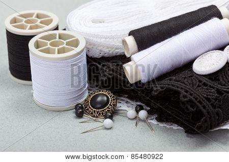 Black Sewing Kit
