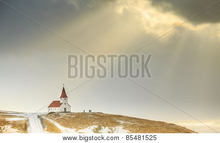 The church at Vik, Iceland